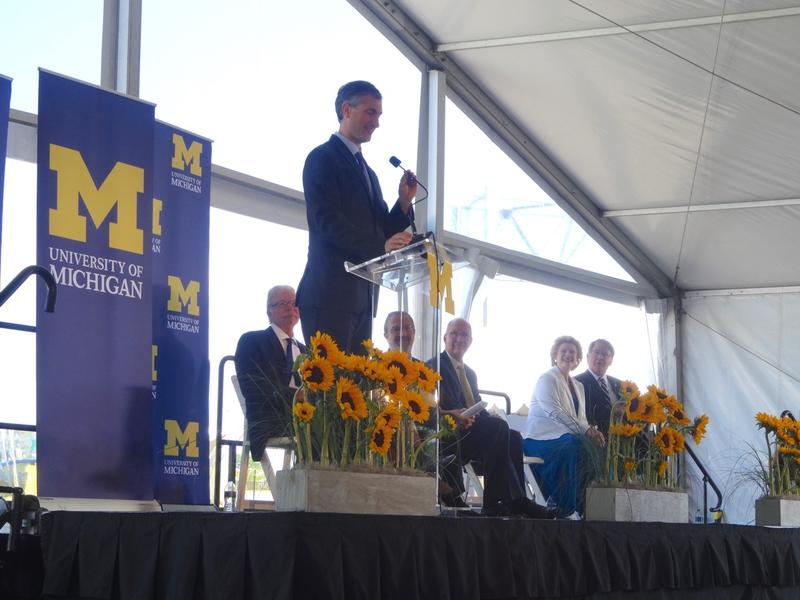 The grand opening at Mcity, of the University of Michigan MobilityTransformation Center.