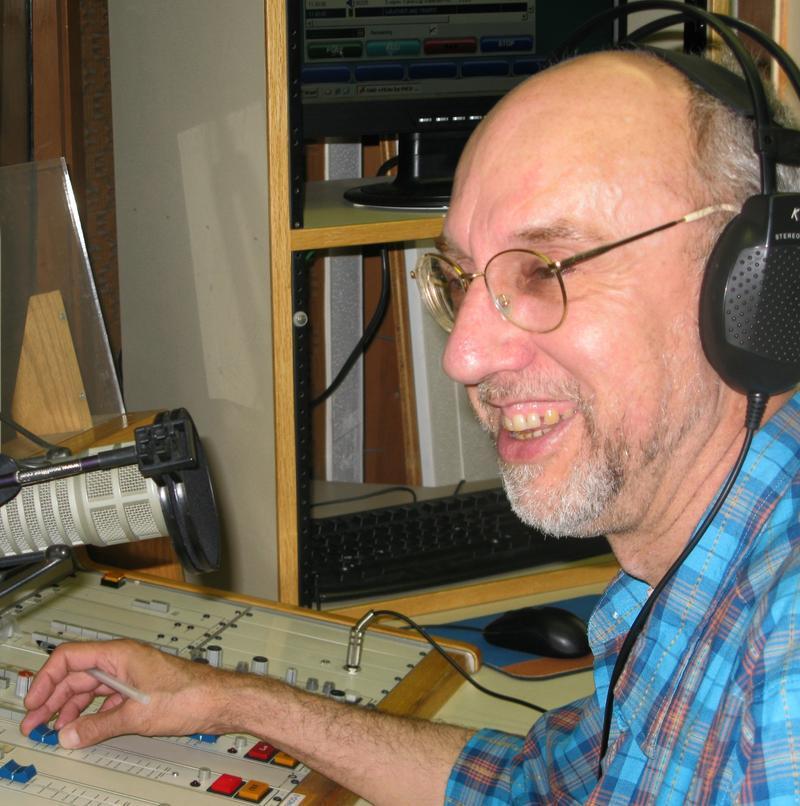Marc Taras in the WEMU studio