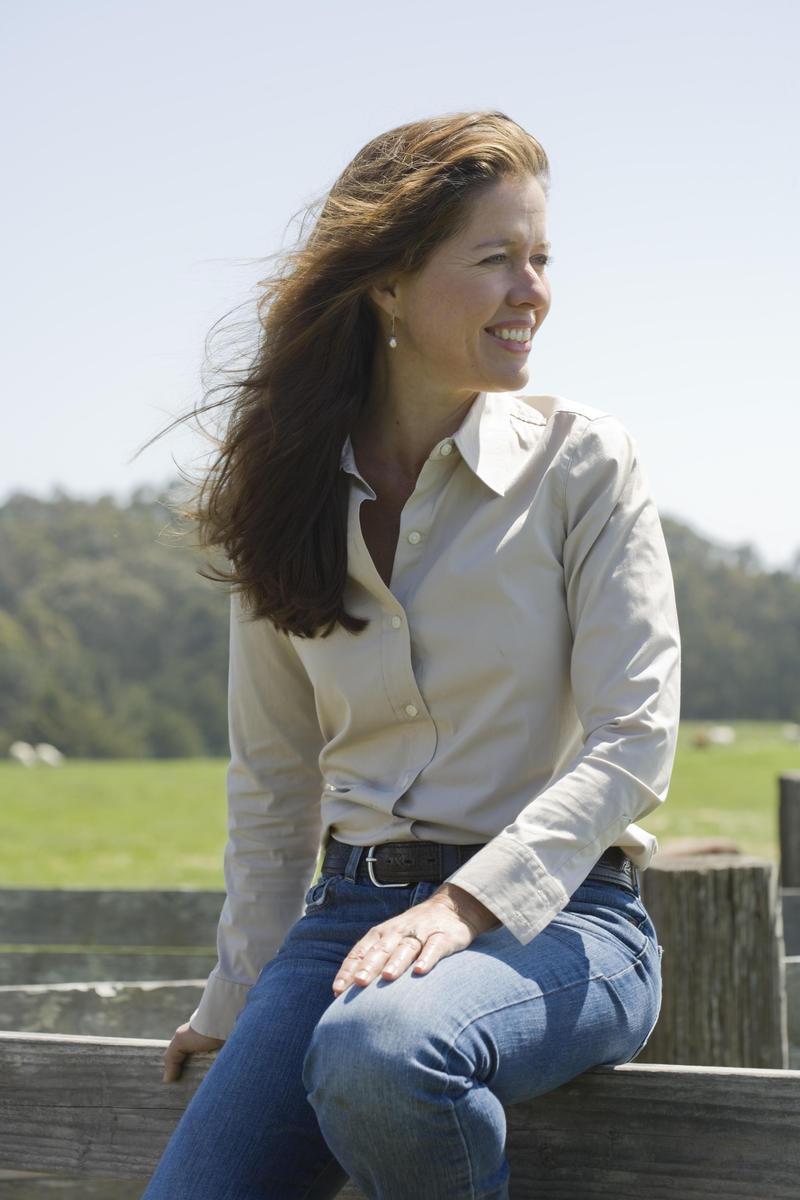 Nicolette Hahn Niman at her ranch.