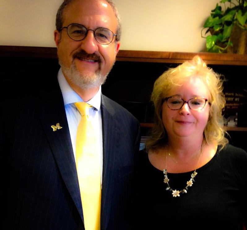 89.1 WEMU's Lisa Barry with University of Michigan President Dr. Mark Schlissel