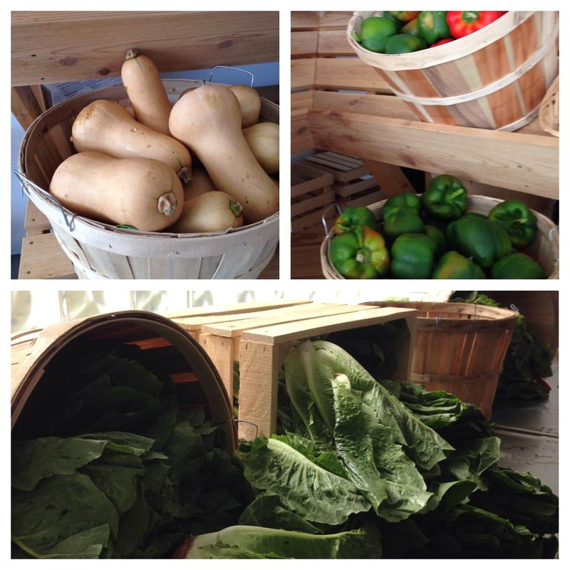 Some of the produce available at the Hope Clinic's free produce stand in Ypsilanti.