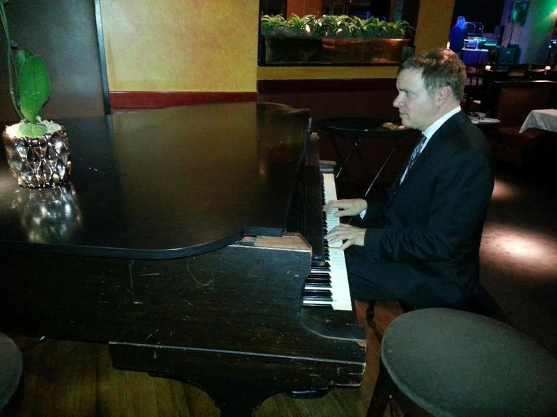 Tim Knapp playing the piano.
