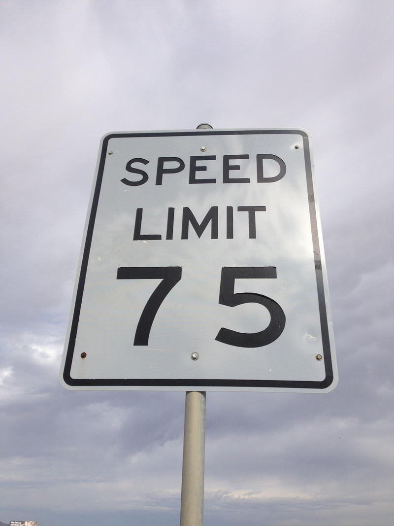 Speed Limit 75 Sign