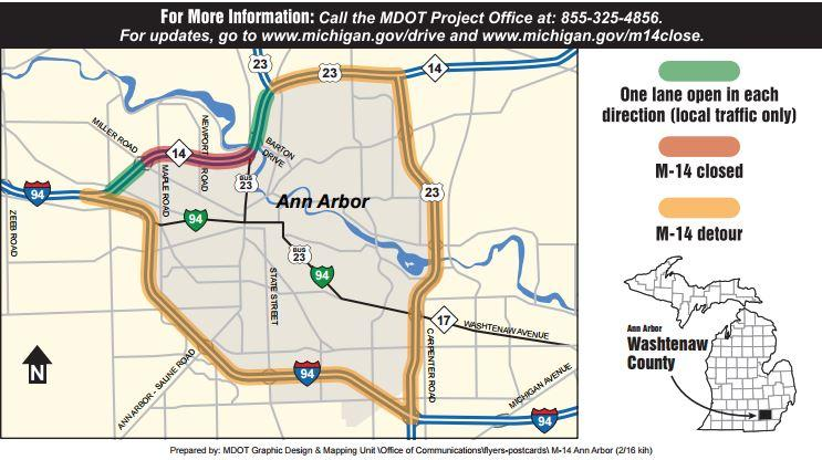 North Bound US Will Remain Closed After Semi Truck Crash WEMU - Map of us 23 in michigan