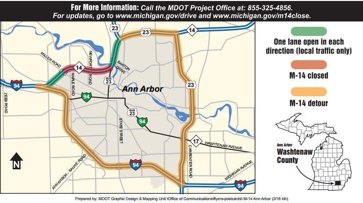 North Bound US Will Remain Closed After Semi Truck Crash WEMU - Us 23 michigan map