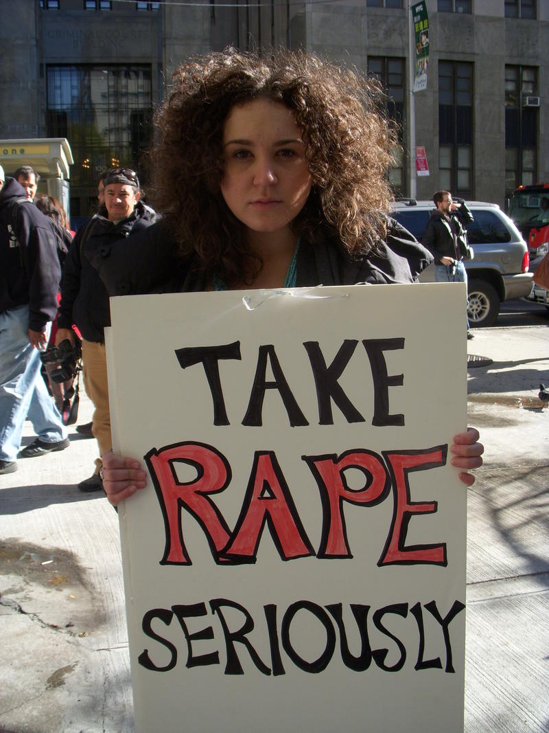 Sexual Assault Protester