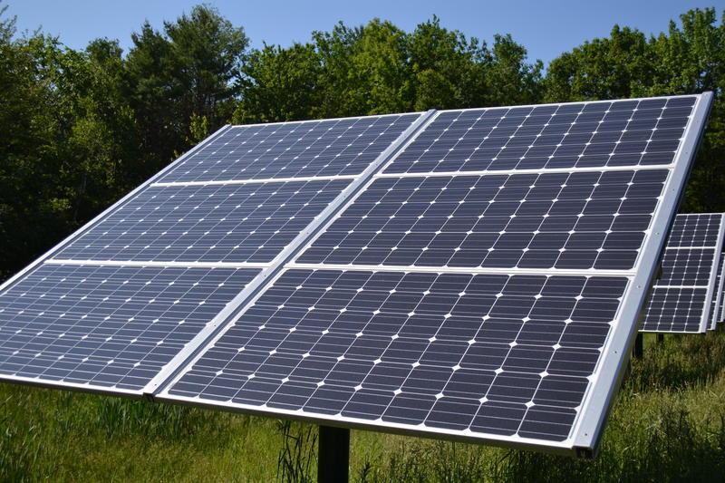 Solar panel at Canterbury Municipal Building Canterbury New Hampshire