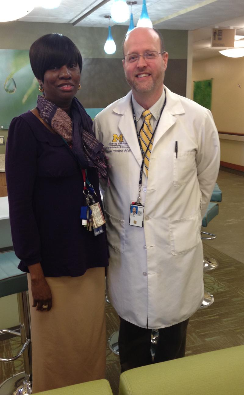 Cheryl Allen (left) - Women Veterans Program manager and Dr. Steven Domino (right) - Director of the women's health clinic at the VA Ann Arbor Healthcare system