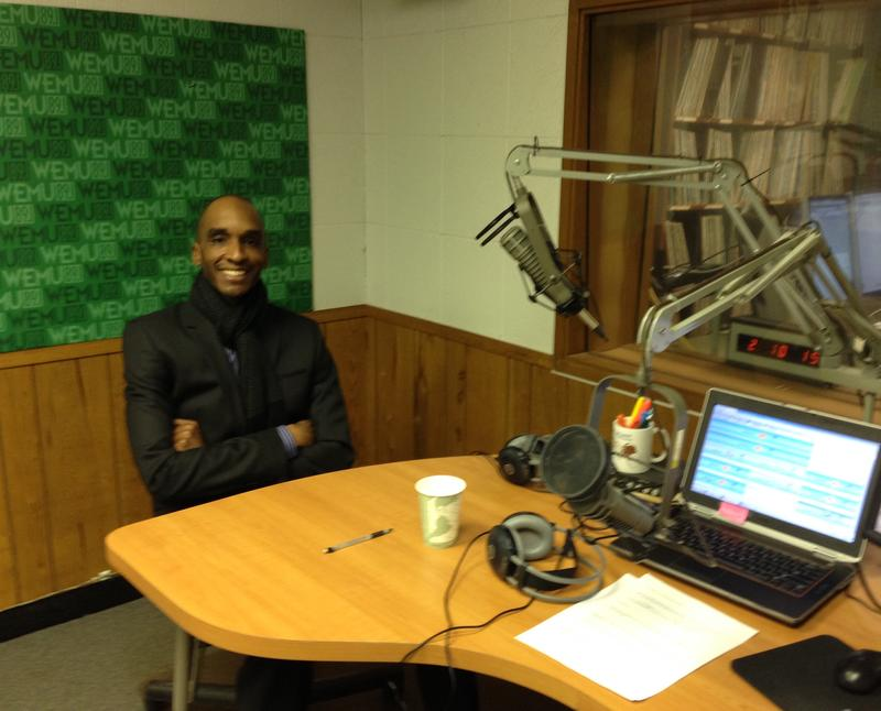 Dr. Benjamin Edmonson, Superintendent of Ypsilanti Community Schools in the 89.1 WEMU studio where he talked with Lisa Barry