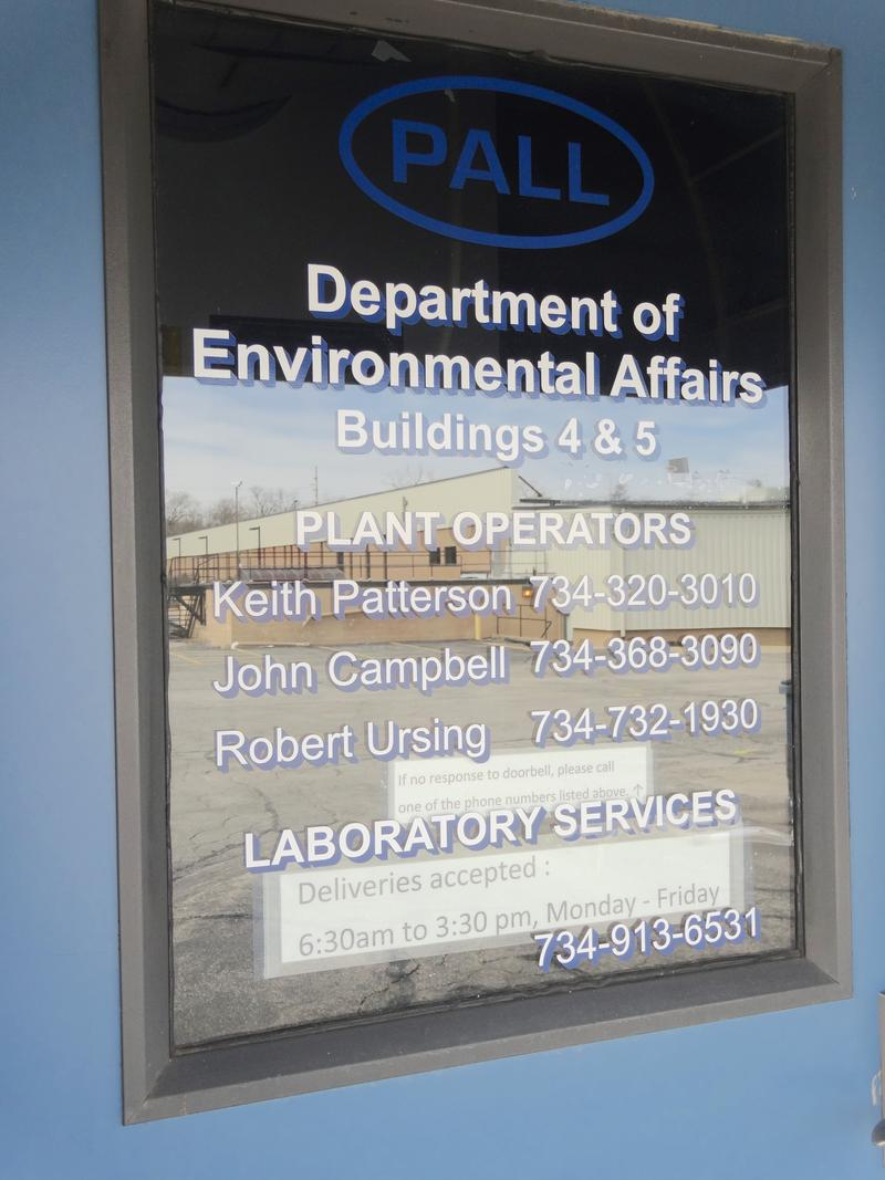 Door at Pall Corporation on Wagner Road