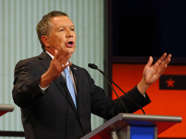 Governor John Kasich (R-Ohio) at the Republican Debate in Detroit