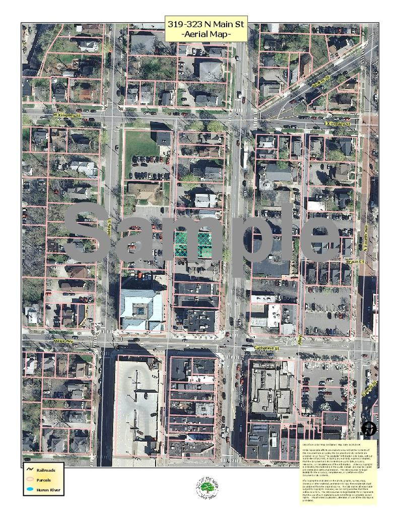 Aerial view of the planned bathouse in Ann Arbor