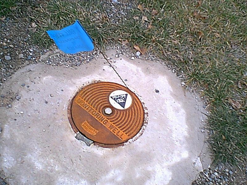 Monitoring well in Vet's Park, Ann Arbor, 2002.