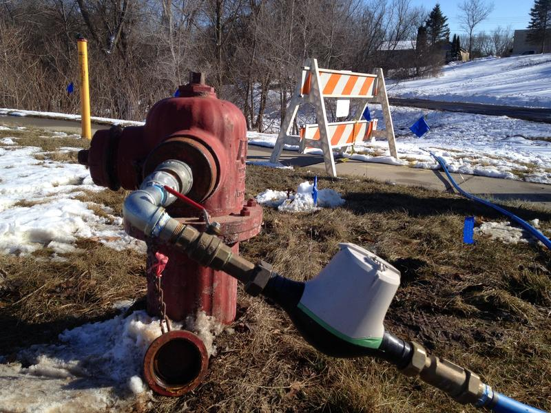March 4, 2016: City water temporary hookup to home off Jackson Road where well registered up to 17 ppb of 1,4-Dioxane