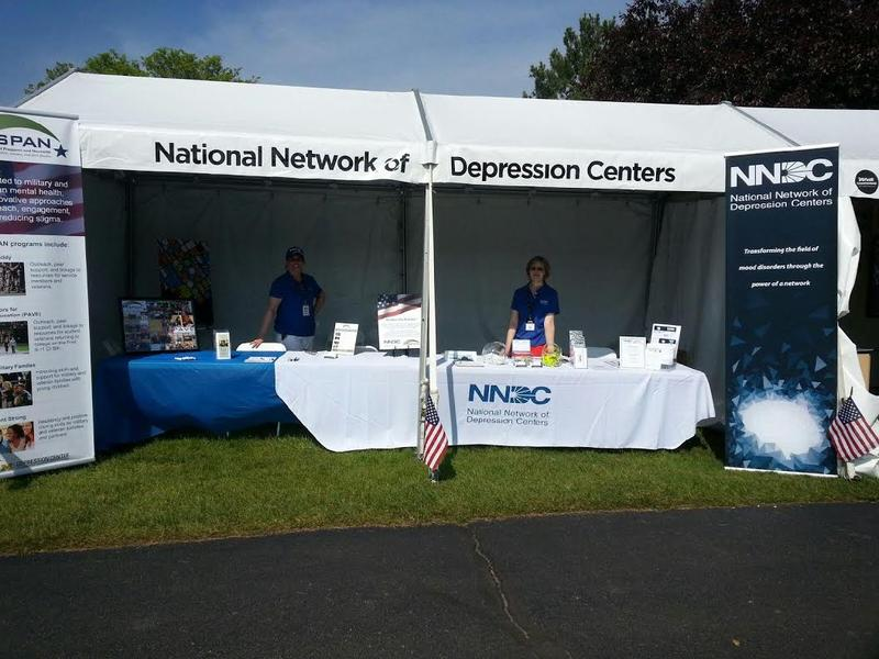 The National Network of Depression Centers booth.
