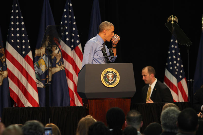 President Obama in Flint