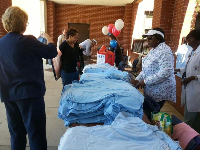 Participants get T-Shirts for the walk.