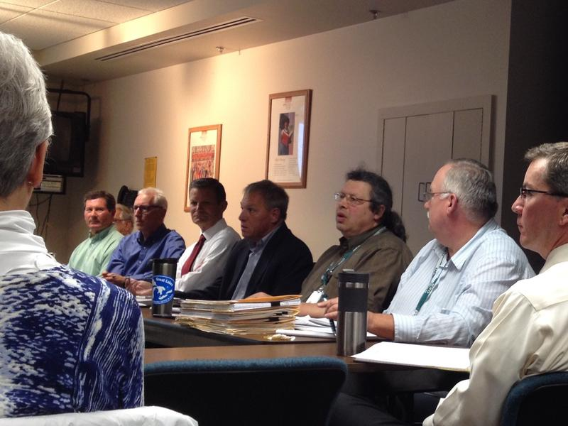 •	Dan Bicknell, Bob Wagner and Mitch Adelman of the DEQ, and others at a CARD Technical Group meeting