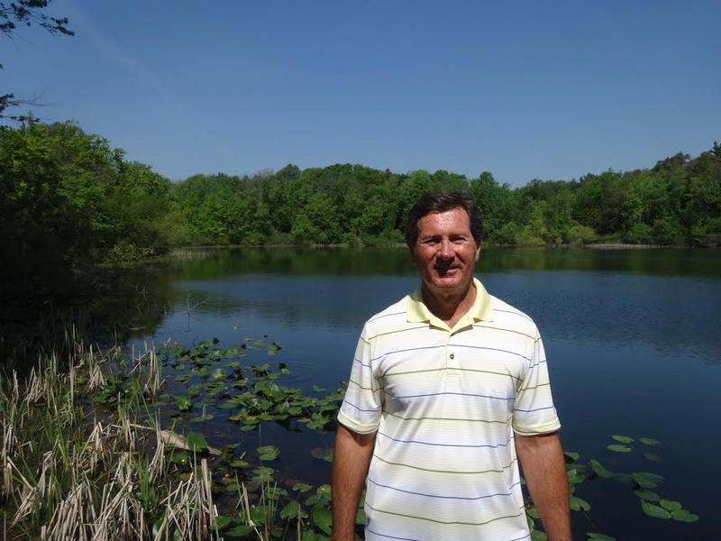 •	Dan Bicknell at Third Sister Lake, Ann Arbor