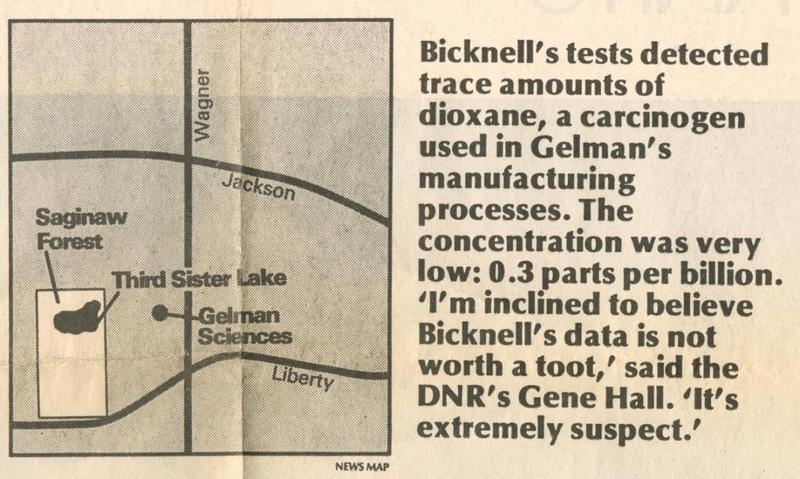 From the Ann Arbor News, Sept. 16, 1984