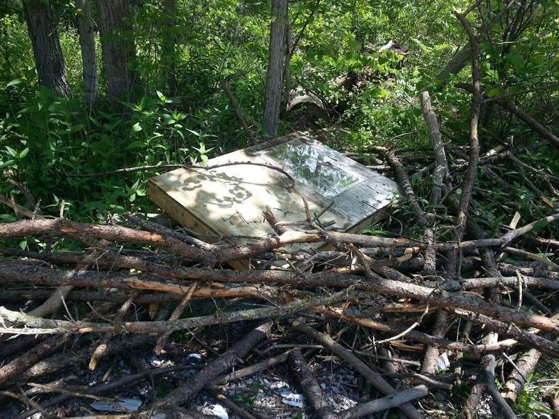 Suspected illegal dumping at Mary Beth Doyle Park.