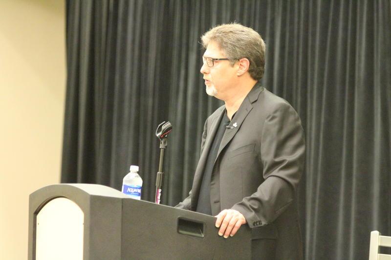 WEMU's David Fair moderates the town hall forum.