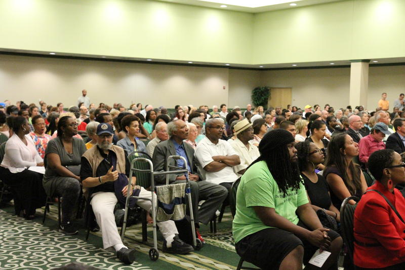 Over 500 residents attend the forum.
