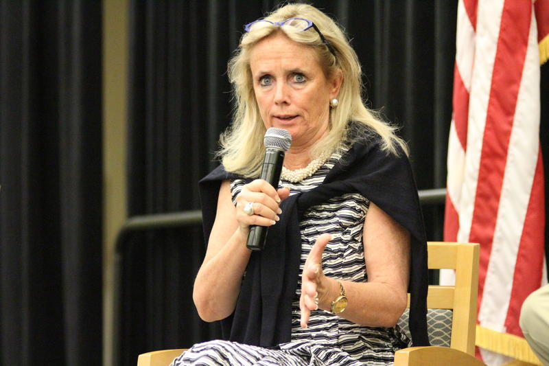 Debbie Dingell answers a question.