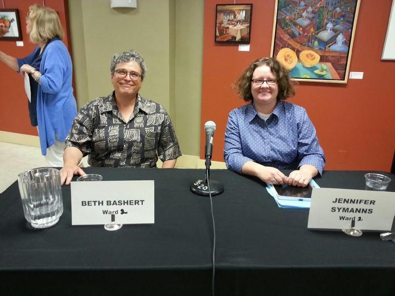 Candidates for Ypsilanti City Council's 2nd Ward Beth Bashert and Jennifer Symanns