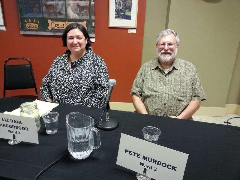 Candidates for Ypsilanti City Council's 3rd Ward Liz Dahl MacGregor and Pete Murdock