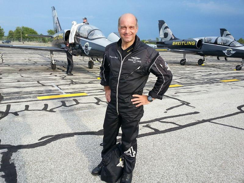 Pilot Francois Ponsot flies jet number four.