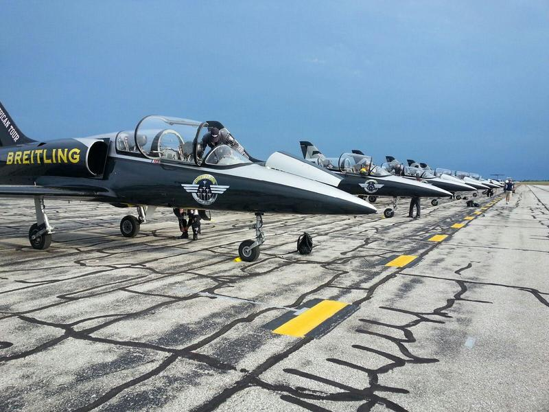 This is the first time the Breitling Jet Team will participate in Thunder Over Michigan at Willow Run Airport.