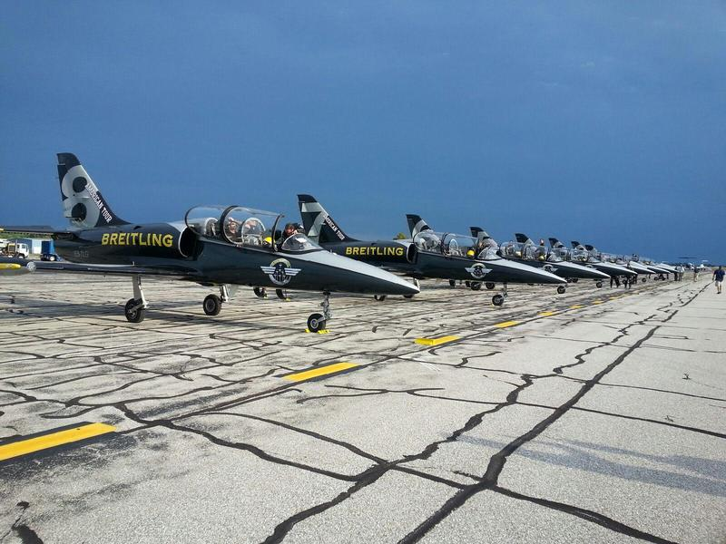 The Breitling Jet Team fleet.