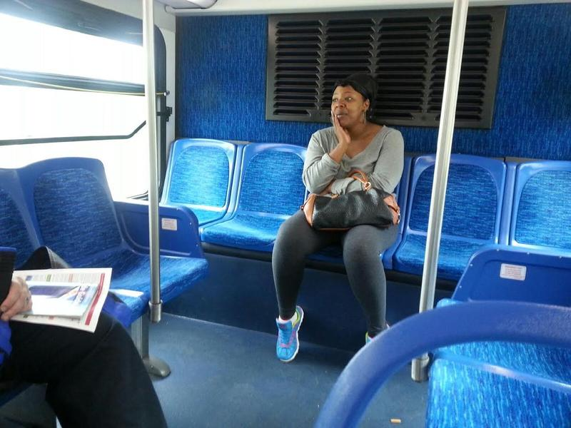 Leandra Shea-Howell uses bus to get to work.