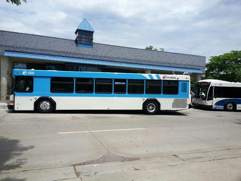 Bus at the Ypsilanti Transit Center