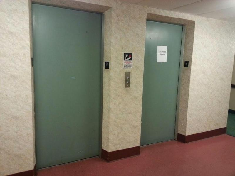 Towne Centre Place elevators.