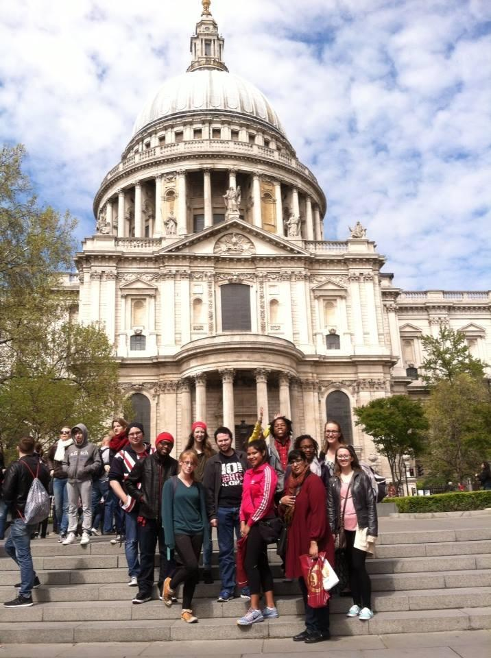 WEMU's Jeremy Baldwin, our site coordinator for the last 4 days of the trip, took us to see the stunning St. Paul's Cathedral