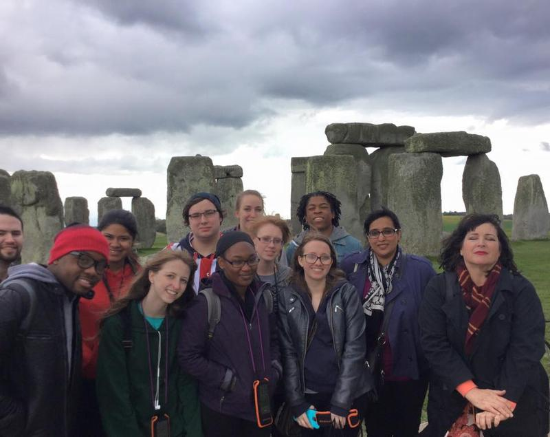The class also included a cultural tour. This is the class posing in front of Stonehenge. It was freezing that day and some of us were a little less prepared to handle the weather.