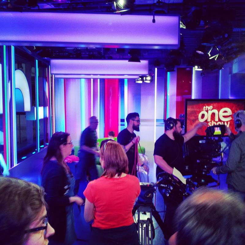 EMU students, Benita Goldman and I were invited back after out BBC tour to be part of a live studio audience for the BBC One Show. Their guest was artist and filmmaker, Greyson Perry. Perry discussed his new documentary project on re-defining masculinity.