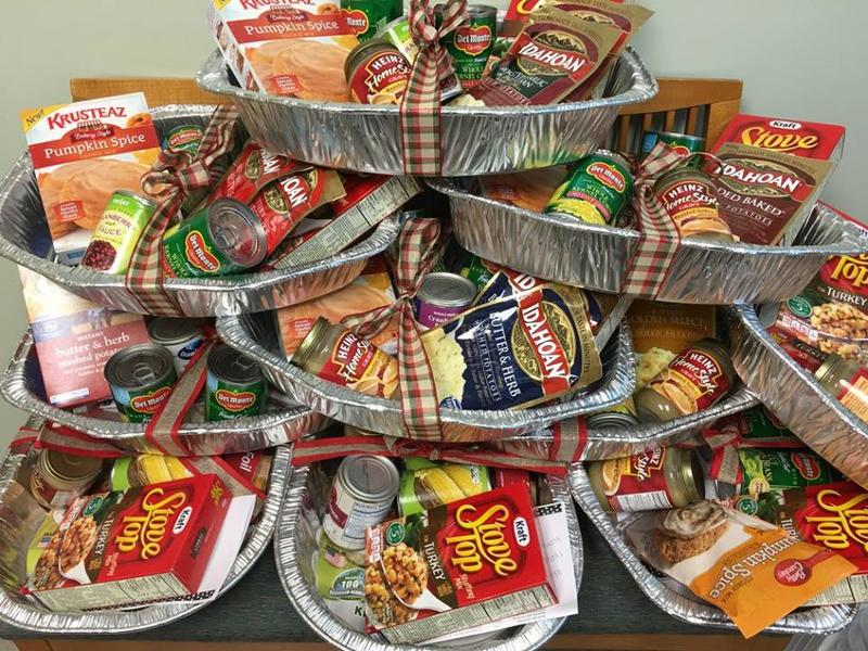 The Pantry assembles donated food into Thanksgiving care packages each year