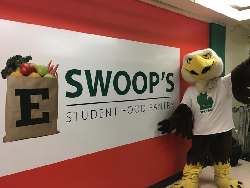 Swoop welcomes EMU students to the Pantry