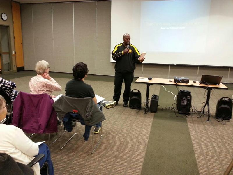 Washtenaw County Sheriff Jerry Clayton speaks during the fourth Community Education Series.