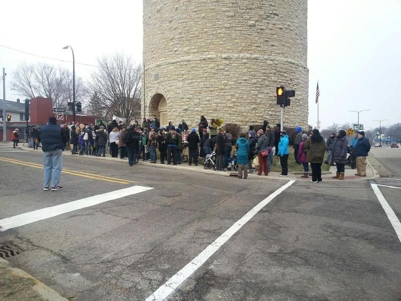 The march started at the Ypsilanti Water Tower.