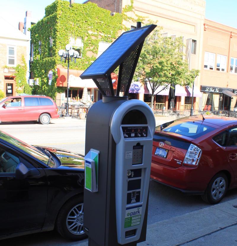 A multi-space parking meter in Ann Arbor