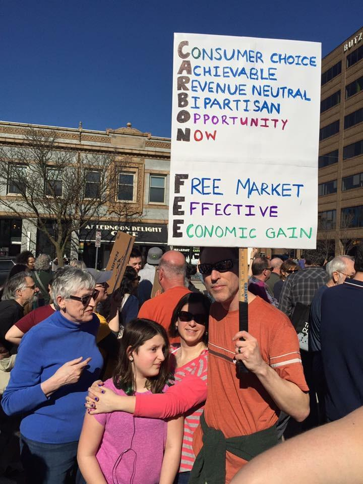 March and Rally for Climate Action in Ann Arbor, 2/18/17