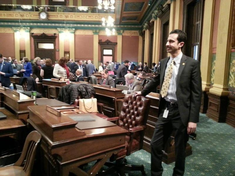 State Representative Rabhi on the house floor.