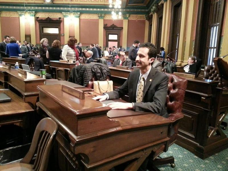 Rabhi during session on the House floor.