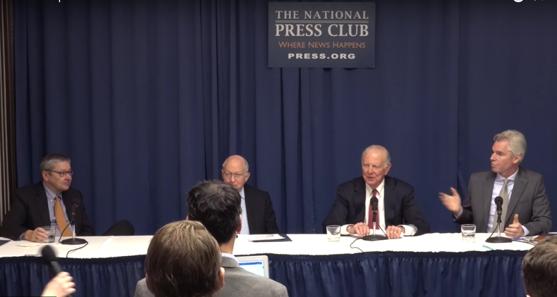 February 8th, 2017  Launch of the Climate Leadership Council with James A. Baker, Martin Feldstein, Ted Halstead, and Greg Mankiw