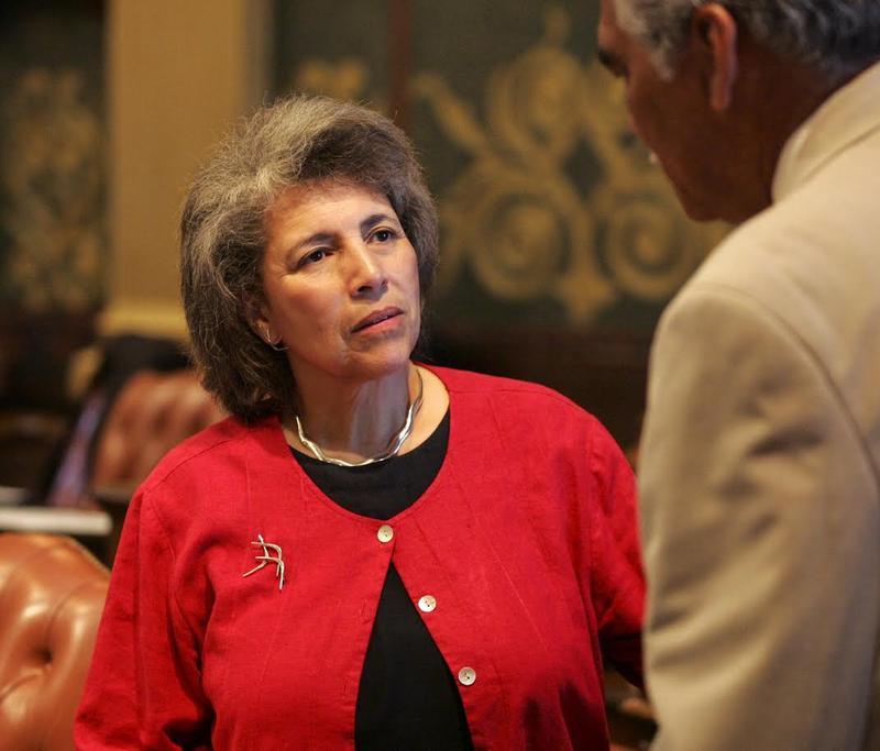 Alma Wheeler-Smith on the floor of the Michigan House of Representatives.