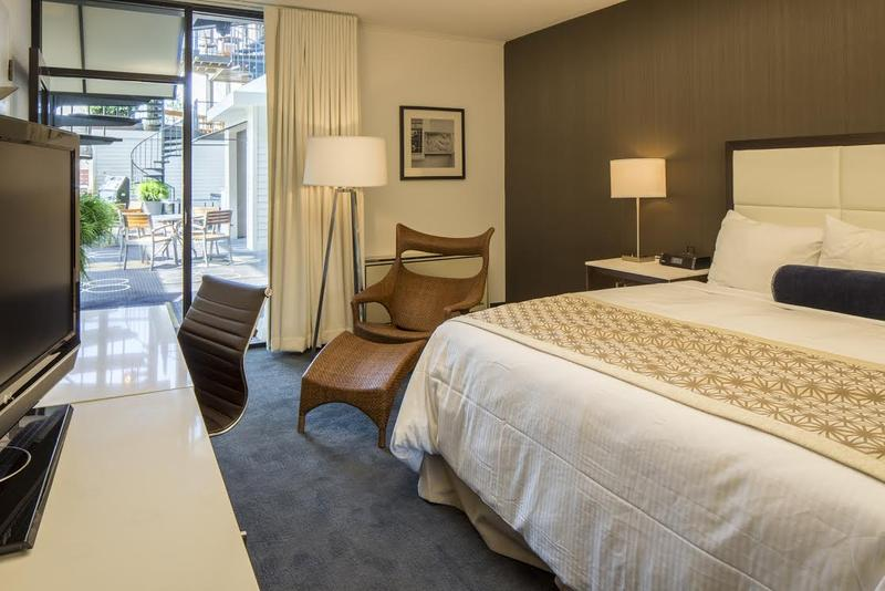 Hotel room at Weber's.